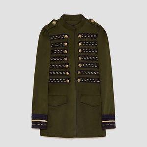 Zara NWT Military Jacket